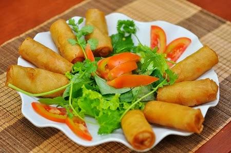 Món nem chế biến từ Bếp hồng ngoại Kangaroo KG394i