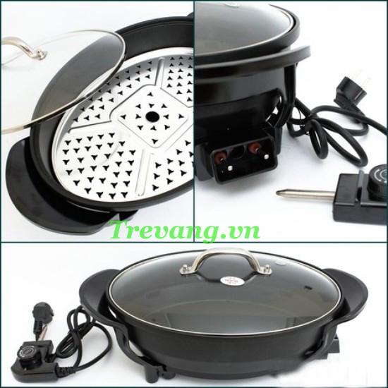 Chảo điện đa năng Magic Pan nguyên khối chắc chắn an toàn