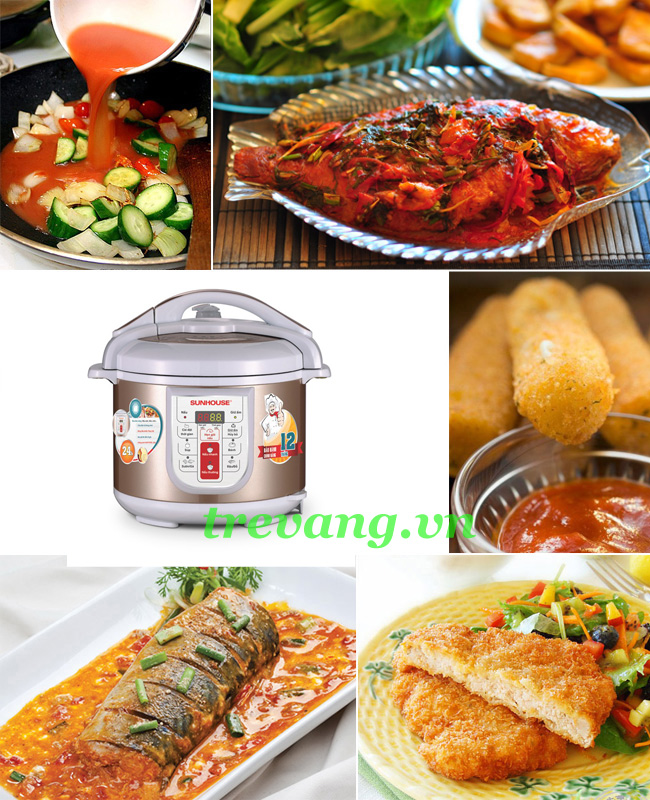 Nồi áp suất điện đa năng Sunhouse SHD1758 đa dạng món ăn gia đình