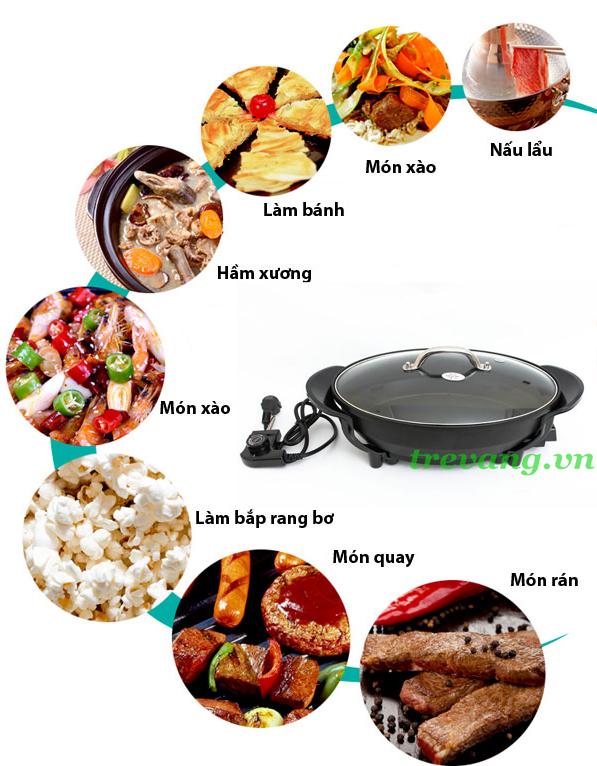Chảo điện đa năng Magic Pan đa món ăn