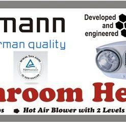 Đèn sưởi nhà tắm Kottmann H2B-HW hồng ngoại quạt gió nóng