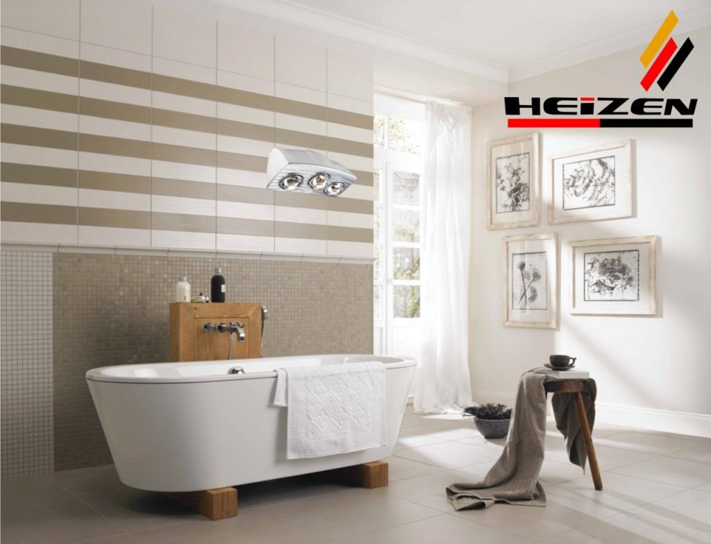 Đèn sưởi nhà tắm Heizen HE-3B176 3 bóng đèn làm ấm nhanh tốt cho sức khỏe
