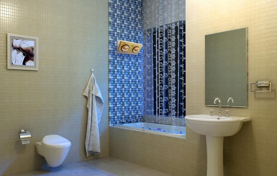 Đèn sưởi nhà tắm loại 2 bóng K2B-S