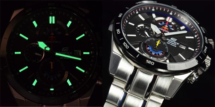 Đồng hồ Casio nam cao cấp EFR-530RB mặt sáng bóng phát quang