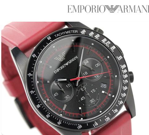 Đồng hồ chính hãng Armani AR6114 mặt kính khoáng dây đeo vang đỏ cho chàng trai Hổ cáp