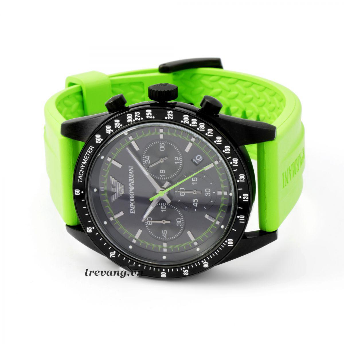 Đồng hồ Armani AR6115 dây đeo màu xanh lá cho chàng trai cung xử nữ