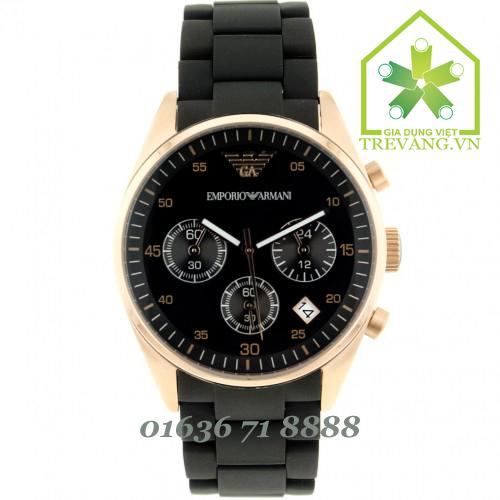 Đồng hồ armani nữ AR5906 màu vàng đồng, dây Silicone