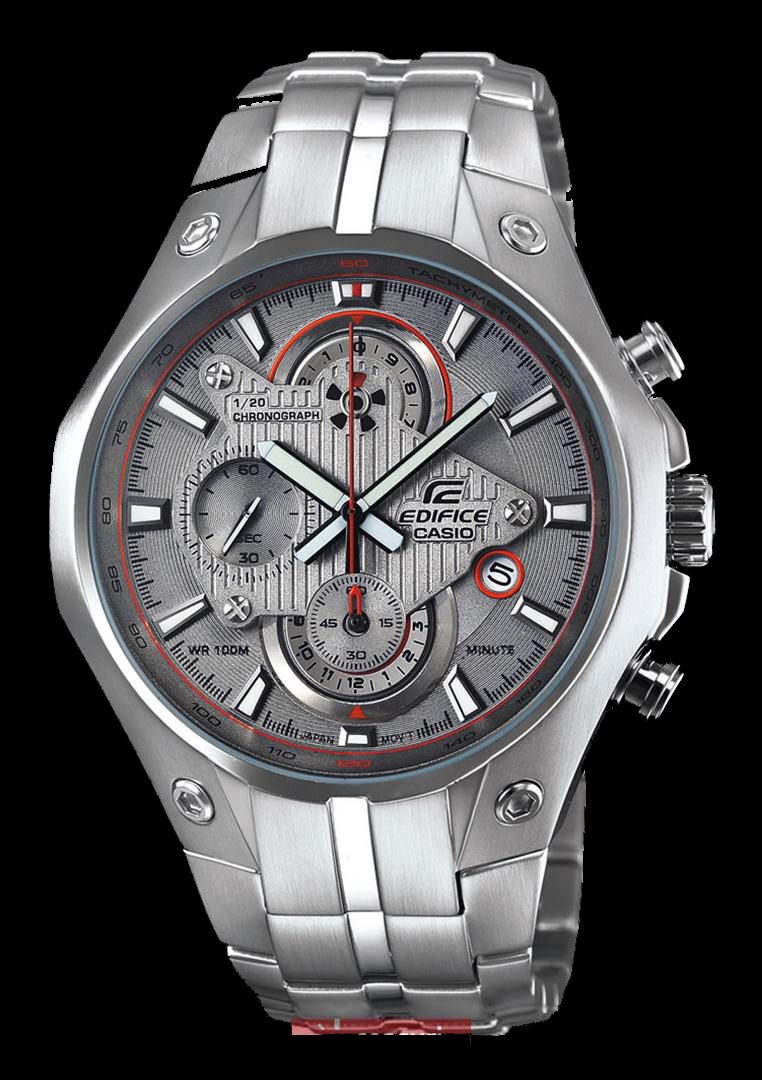Đồng hồ nam Casio EFR-521D-7A mặt xám với thiết kế đặc biệt.