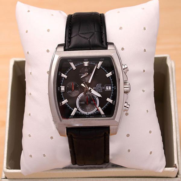Đồng hồ nam Casio EFR-524L-1AV mặt đen dây da đen