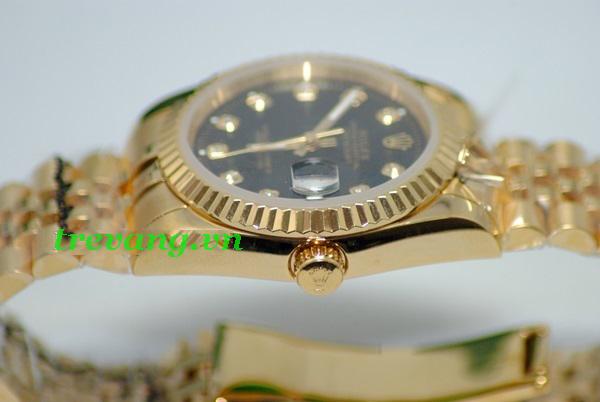 Đồng hồ nam cao cấp Rolex R.507 chốt và viền răng cưa
