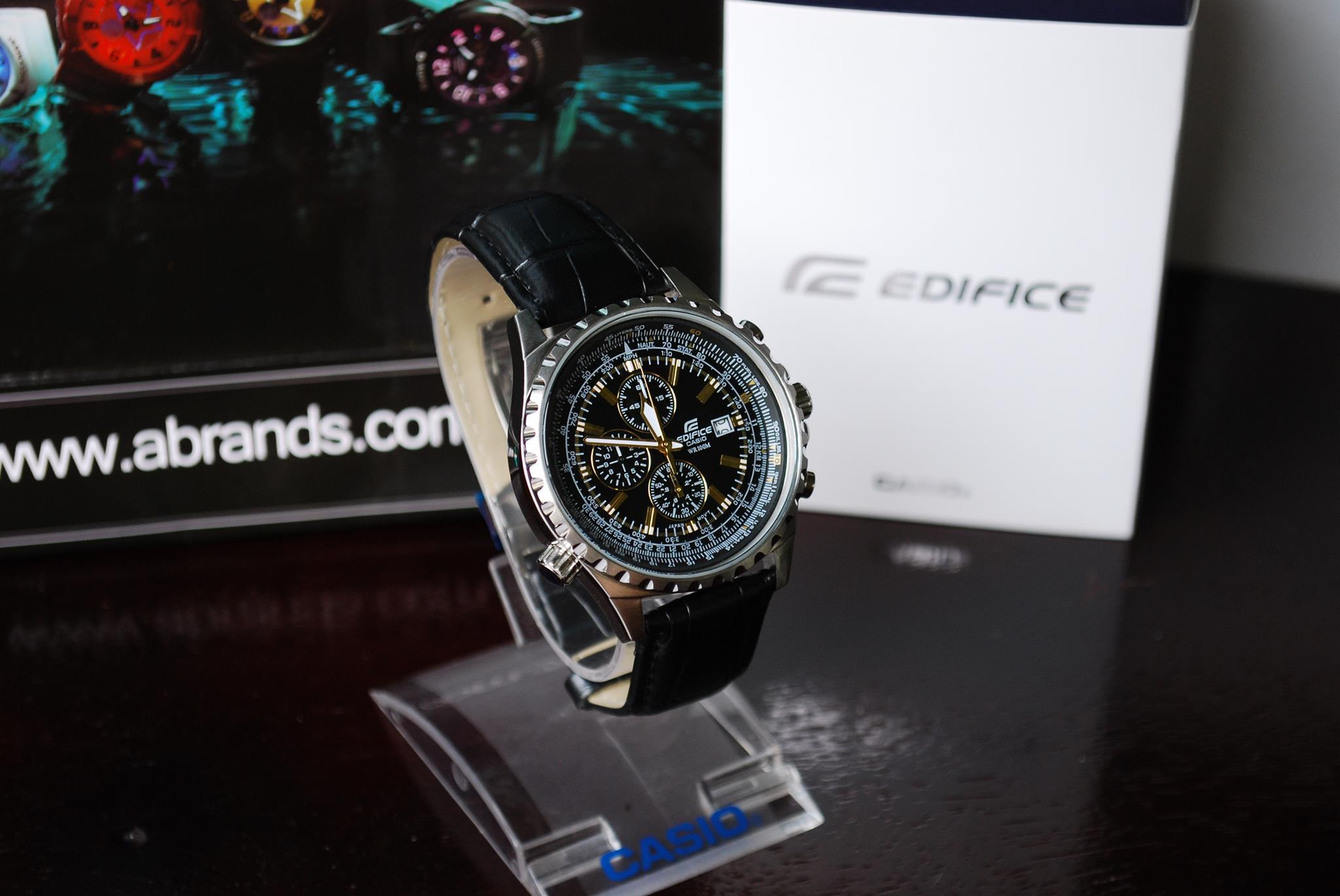 Đồng hồ nam Casio EF-527L-1AV dây da màu đen cá tính