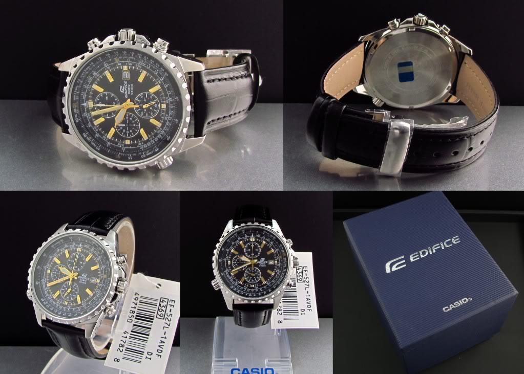 Đồng hồ nam Casio EF-527L-1AV trọn bộ mọi góc cạnh
