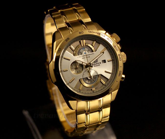 Khẳng định đẳng cấp với đồng hồ Casio Edifice EFR 520FG 7AV full gold