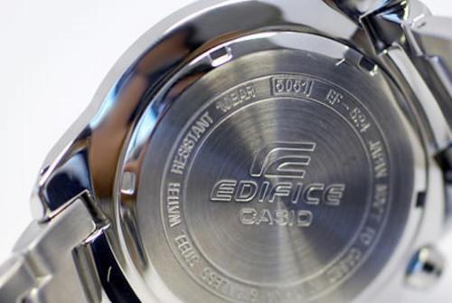 Mặt lưng đồng hồ nam chính hãng Casio Edifice EF-524SP-1A