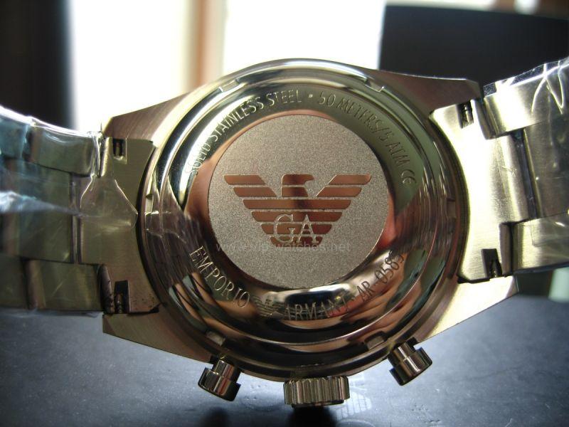 Đồng hồ Emporio Armani AR0585 mặt sau