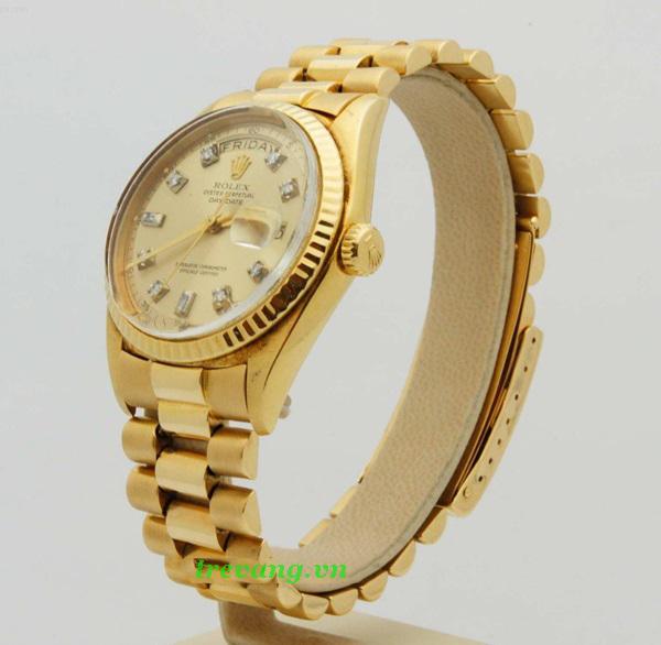 Đồng hồ nam Rolex R504 chốt vương miện