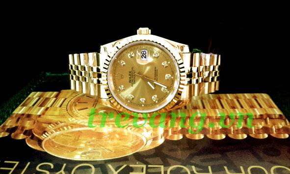 Đồng hồ nam Rolex R504 mạ vàng thời trang