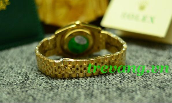 Đồng hồ Rolex nam R.505 ngang dây đeo hợp kim mạ vàng