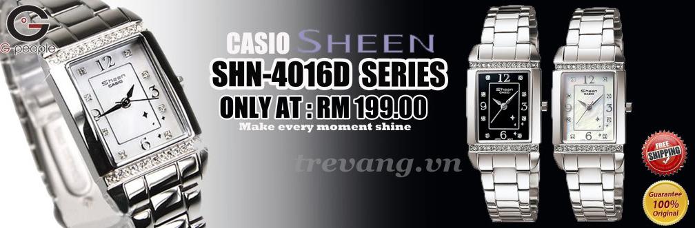 Series đồng hồ nữ Casio Sheen SHN-4016D gồm 2 mã 1A và 7A