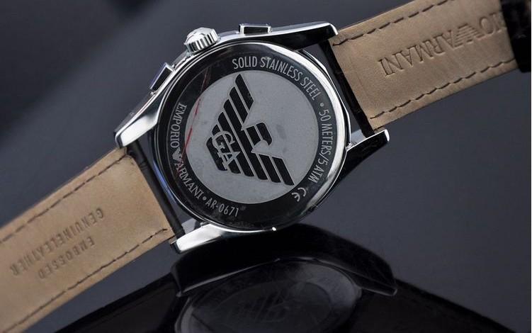 Đồng hồ đeo tay nữ Armani AR0672 Emporio mặt sau