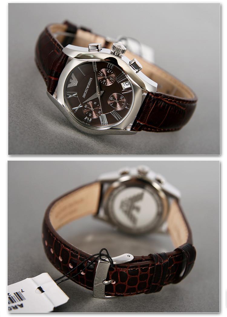 Đồng hồ đeo tay nữ Armani AR0672 Emporio dây da tự nhiên