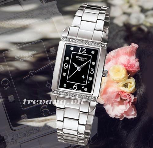 Đồng hồ nữ Casio Sheen SHN-4016D-1A 7A thiết kế mặt vuông