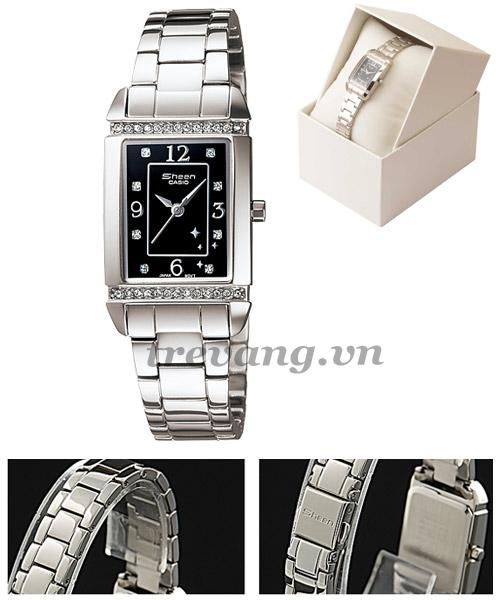 Chi tiết từng phần đồng hồ nữ Casio Sheen SHN-4016D-1A 7A