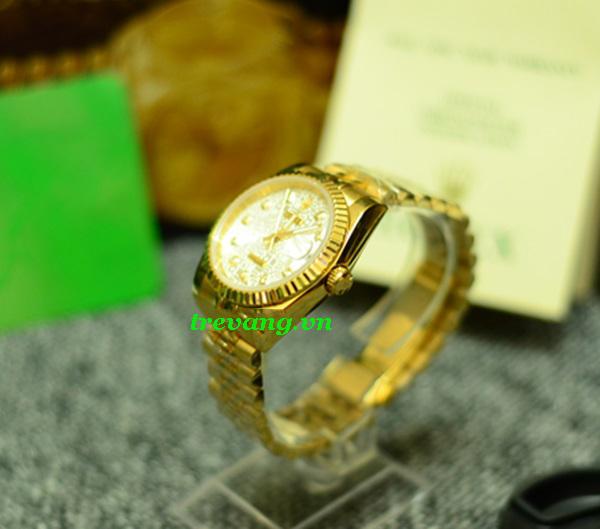 Đồng hồ Rolex nam R.506 chốt, mặt nền trắng tinh tế