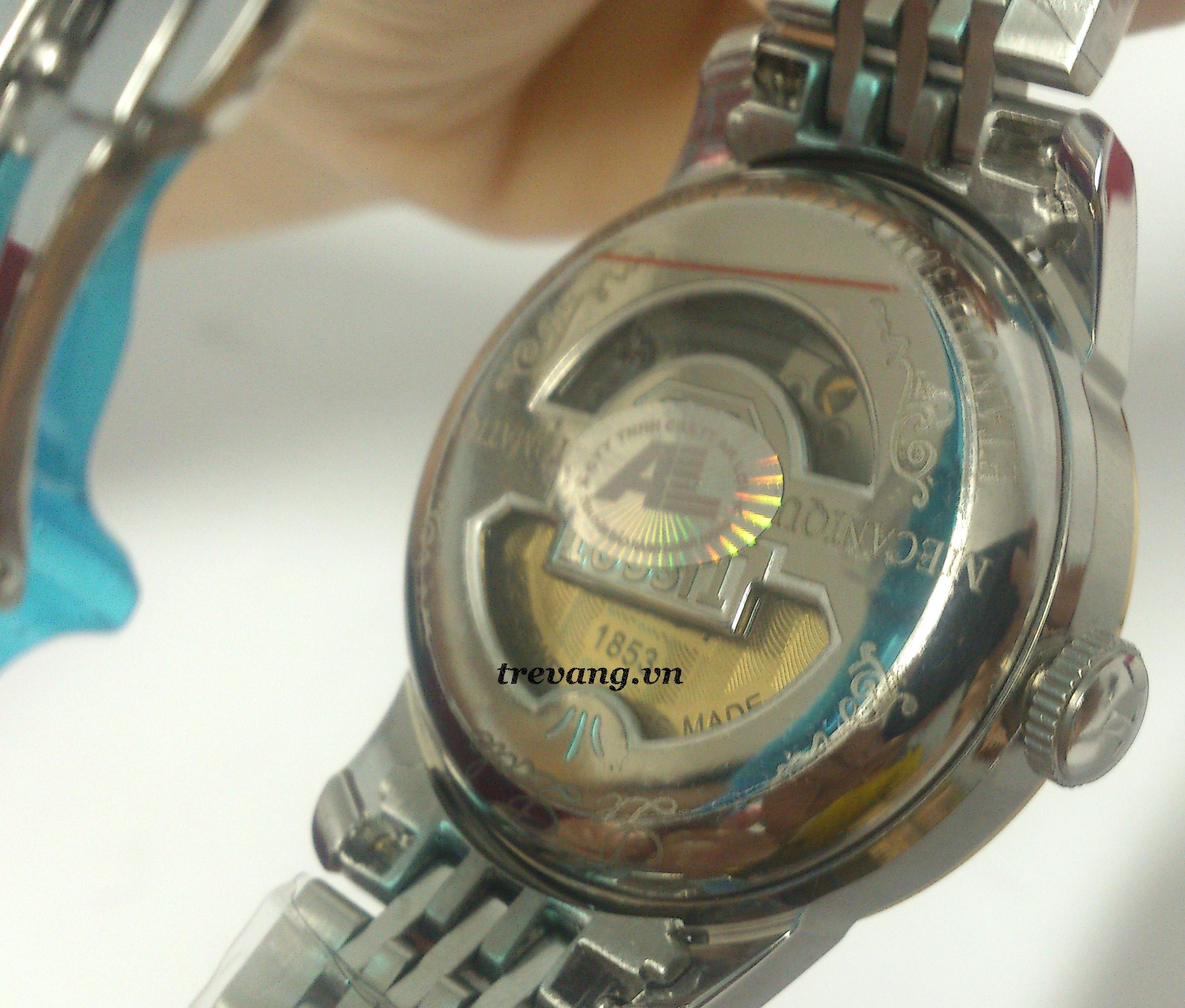 Đồng hồ Tissot 1853 12BL04472 thiết kế mặt sau tinh tế