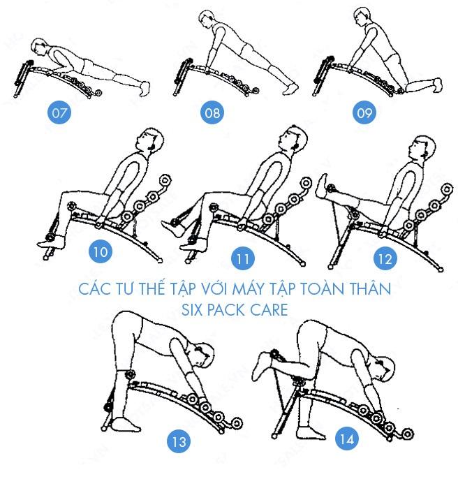 Máy tập cơ bụng Six Pack Care Shachu 2014 các bài tập 2