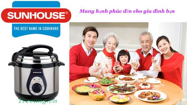 Nồi áp suất đa năng Sunhouse SHD1550 bữa cơm ngon