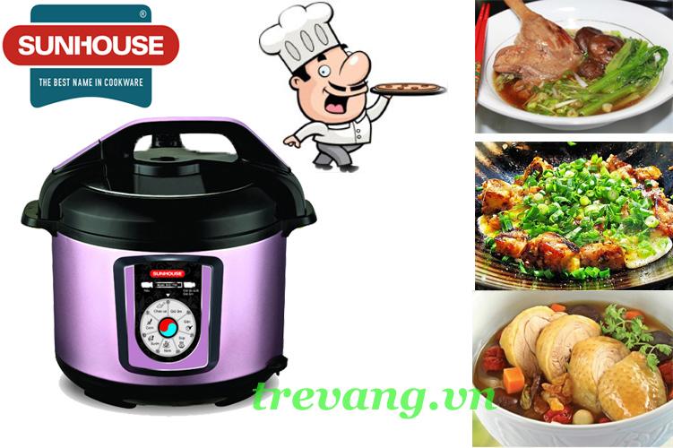 Nồi áp suất điện đa năng Sunhouse SHD1756 đa dạng món ăn gia đình