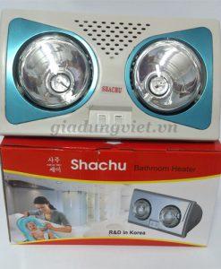 Đèn sưởi nhà tắm Shachu 2 bóng vàng công suất chiếu sáng 550W