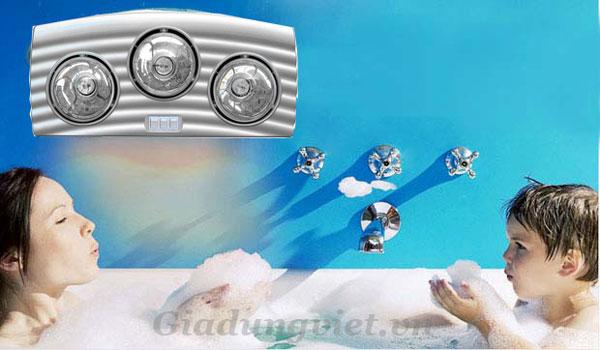 Đèn sưởi phòng tắm ELKS F38 cao cấp phát nhiệt hồng ngoại