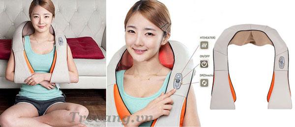 Máy massage vai cổ gáy ZX-1688 màu be sang trọng