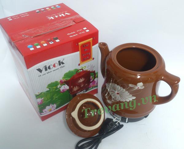Ấm sắc thuốc Vicok VT-01 nắp rời