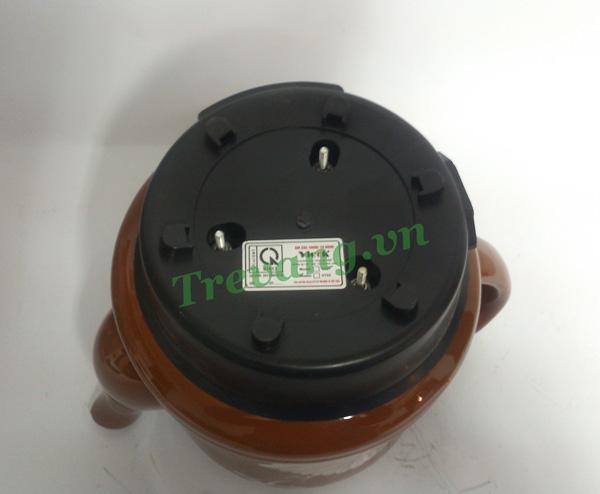 Ấm sắc thuốc Vicok VT-01 thiết kế mặt đáy