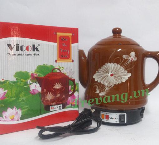 Ấm sắc thuốc Vicok VT-01 vỏ hộp sang trọng