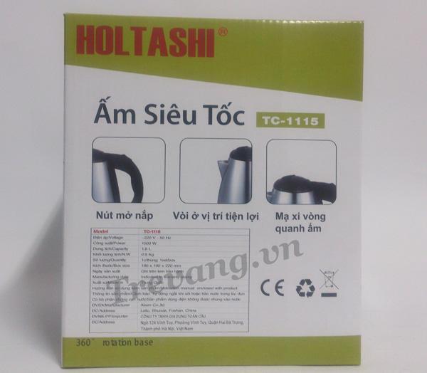 Ấm siêu tốc Holtashi TC-1115 thông số kỹ thuật
