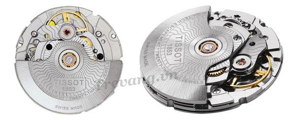 Bộ máy của đồng hồ Tissot automatic