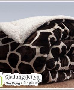 Chăn lông cừu Bolina Hàn Quốc màu đốm sang trọng