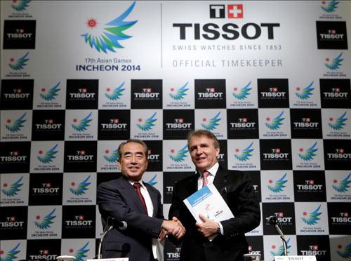 Chủ Tịch IAGOC và và François Thíebaud, Chủ Tịch Tissot