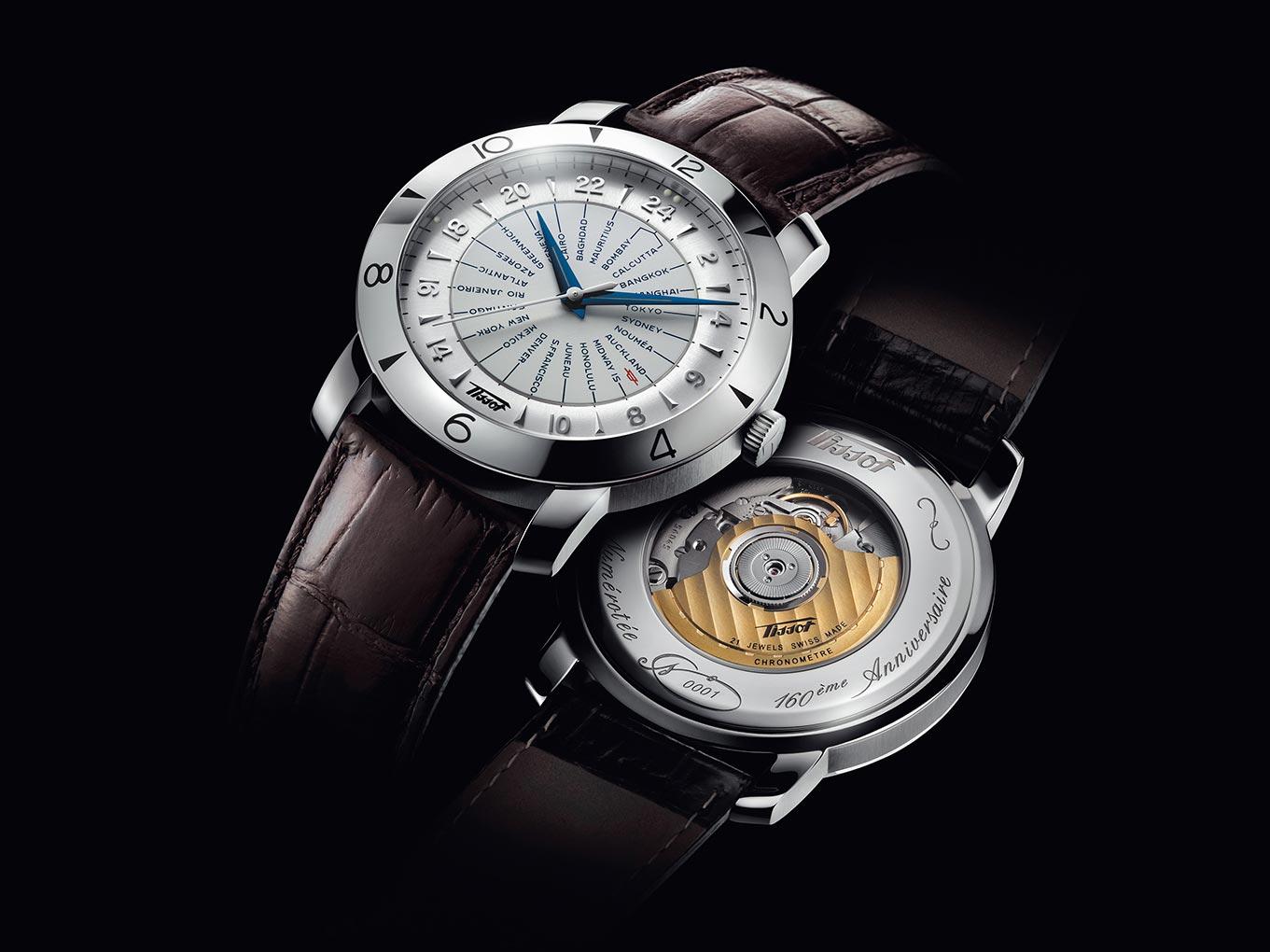 Đồng hồ Tissot với chức năng giờ thế giới