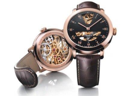Đồng hồ Tissot thiết kế lộ cơ mặt sau