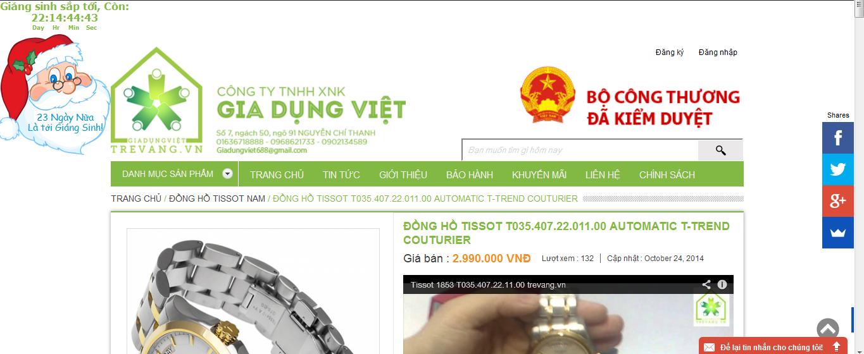 ShopTre Vàng bán đồng hồ Tissot chính hãng