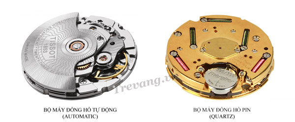Sự khác nhau đồng hồ Tissot Automatic và quartz