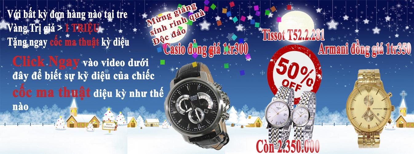 Siêu khuyến mại đồng hồ đến 50% dịp Giáng Sinh