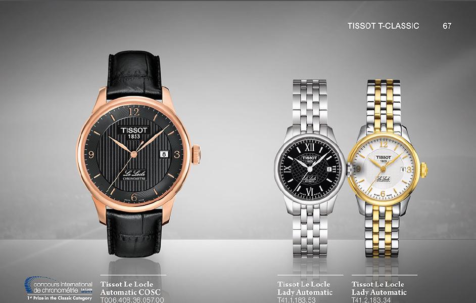 Dòng đồng hồ Tissot T- Classic