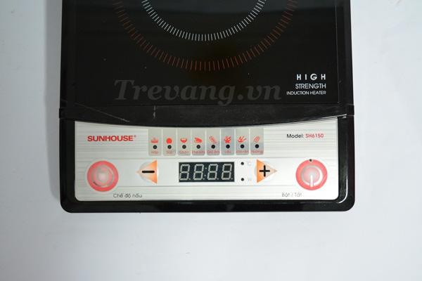 Bếp từ Sunhouse SH6150 Hàn Quốc bảng điều khiển