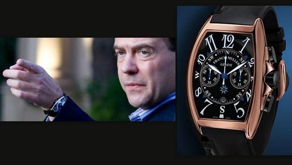 Thủ tướng người Nga chọn Franck Muller Mariner Chronograph.